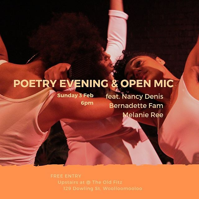 Tomorrow night after #BrownSkinGirl we're hosting a POETRY EVENING (with open mic!). Featuring some of Sydney|Cadi's best poets... Nancy Denis @nancydenis  Bernadette Fam @bernadettefam  Mel Ree @caramelsaucemel  Poetry kicks off at 6pm, upstairs at 129 Dowling St, Woolloomooloo and entry is FREE! 📸 @emeleugavule