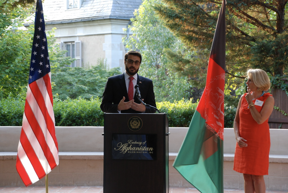 Former Ambassador to Afghanistan, Hamdullah Mohib, during joint program with WDS
