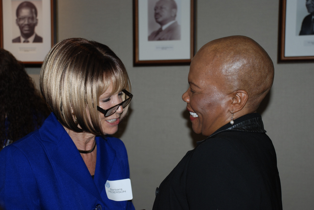 H.E. Tebelelo Mazile Sereste, former first female Ambassador of Botswana to the United States welcoming WDS member