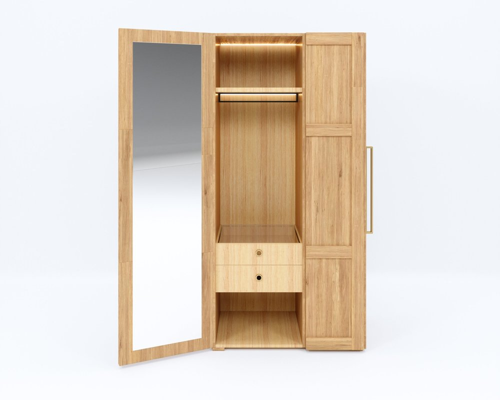 Free standing - Understated yet considered, this wardrobe will suit modern and traditional interiors alike.