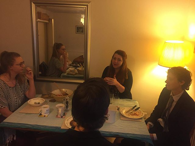 ‪Community life means bonding over dinner! It was great to have some of the new community members meet last night to get to know each other. Want to join us? https://www.stfrideswidecommunity.org/ ‬