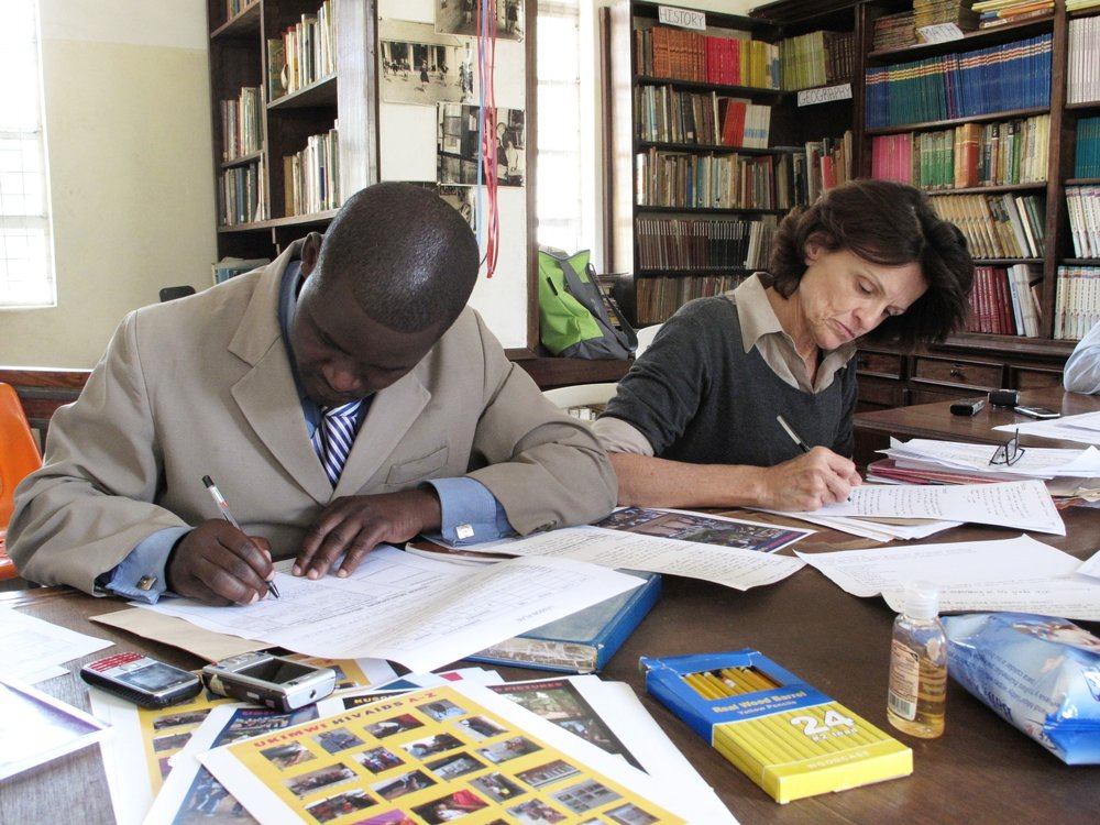 1_Ewald_Teachers From Arusha and North Carolina working on Lesson Plans.JPG