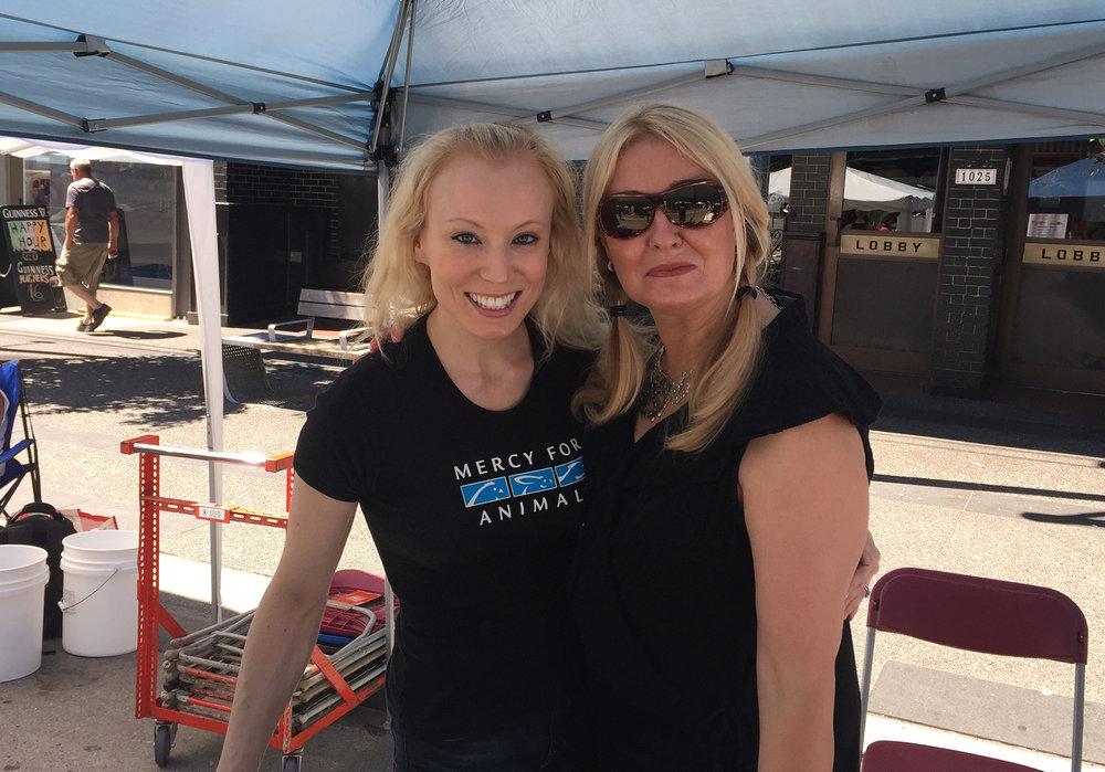 With Britta Jensen