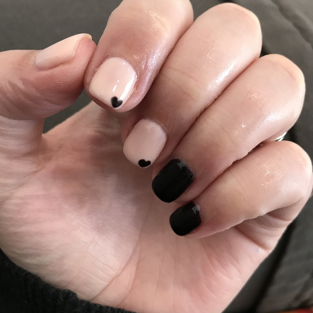 My current nails! - I have to admit. I stole this look from someone on Instagram. The dark color is Lincoln Park After Dark by OPI.