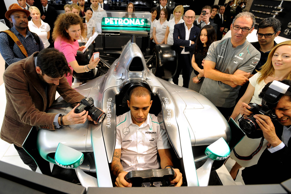IWC Press Launch With Lewis Hamilton