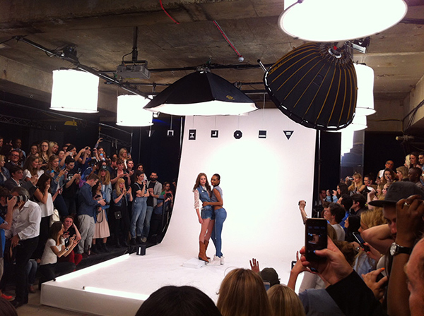 Worlds First Crowd Sourced Campaign. Jourdan Dunn and Rosie Tapner