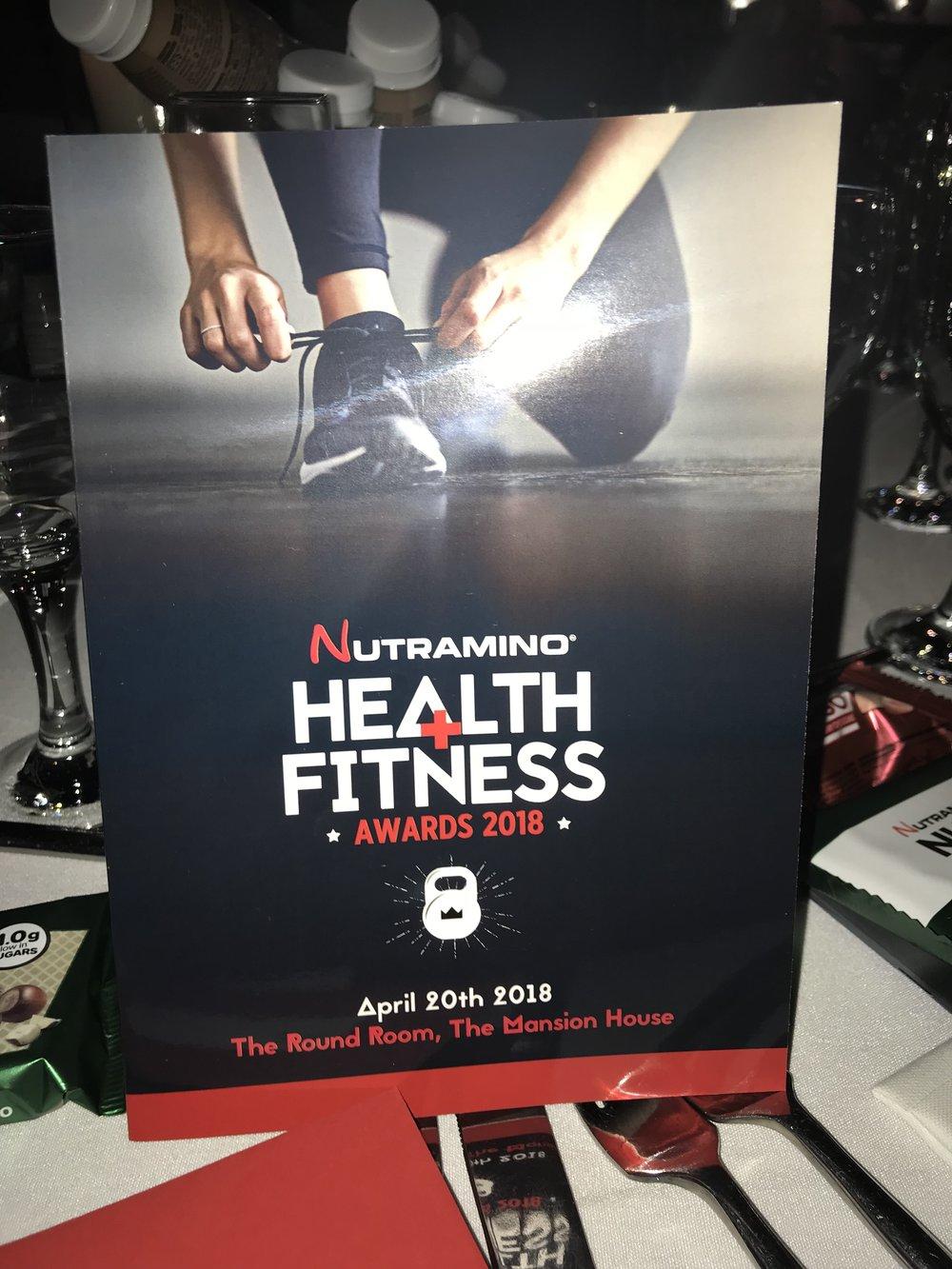 nutramino health and fitness awards 2018