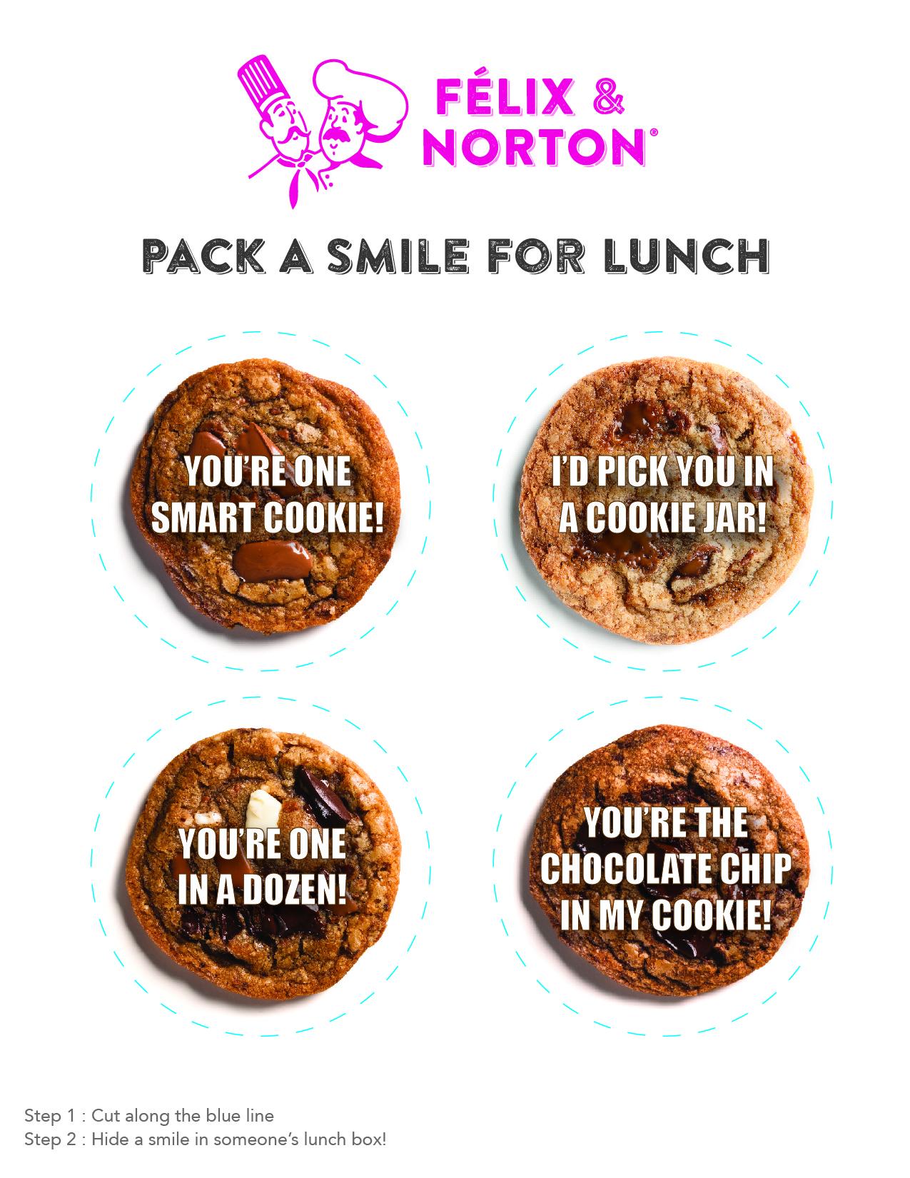 lunch box love notes cookie puns felix & norton