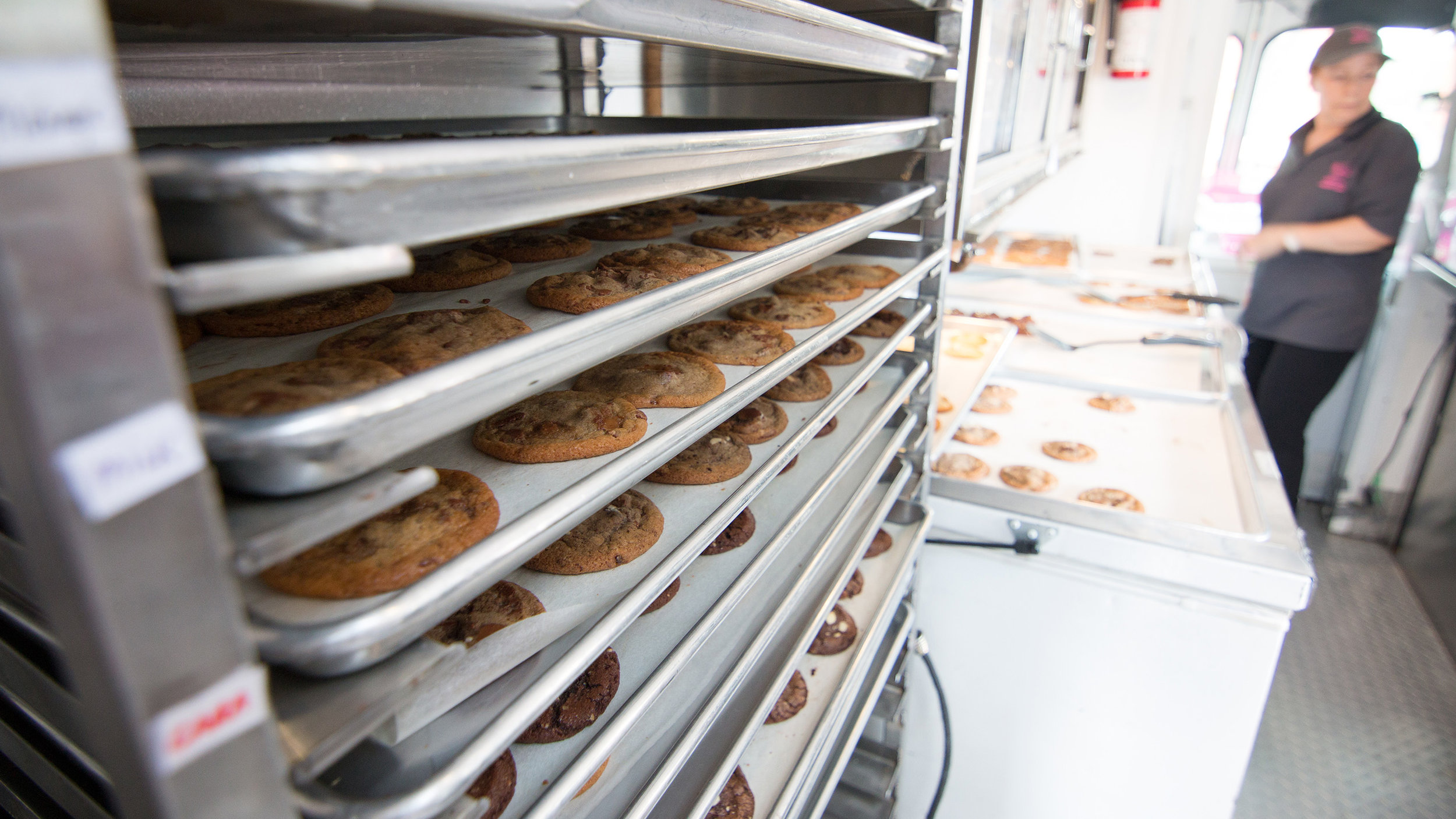 inside the felix & norton cookie truck