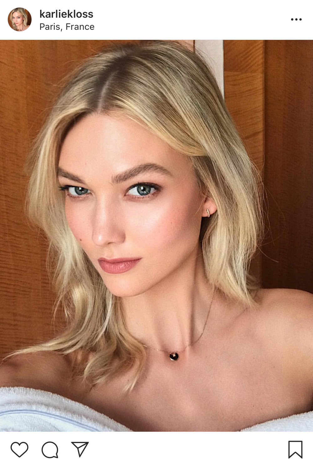Taken from Karlie Kloss's Instagram @karliekloss