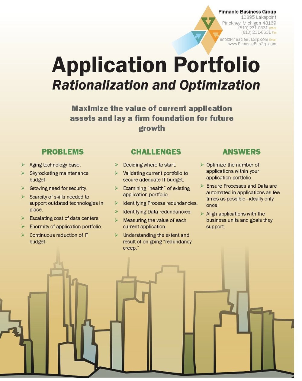View our Application Portfolio Rationalization & Optimization Brochure