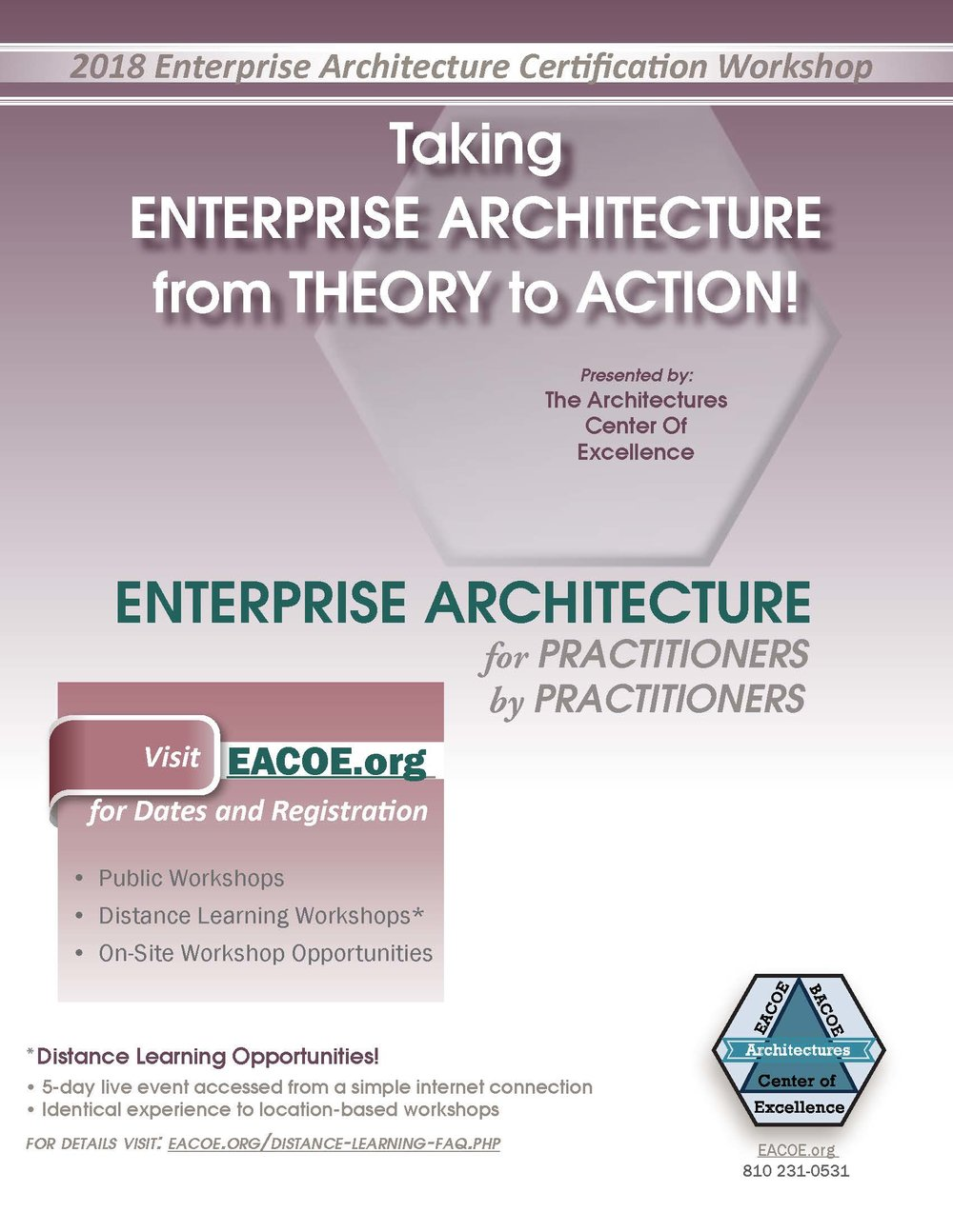 View our 2018 EACOE Brochure