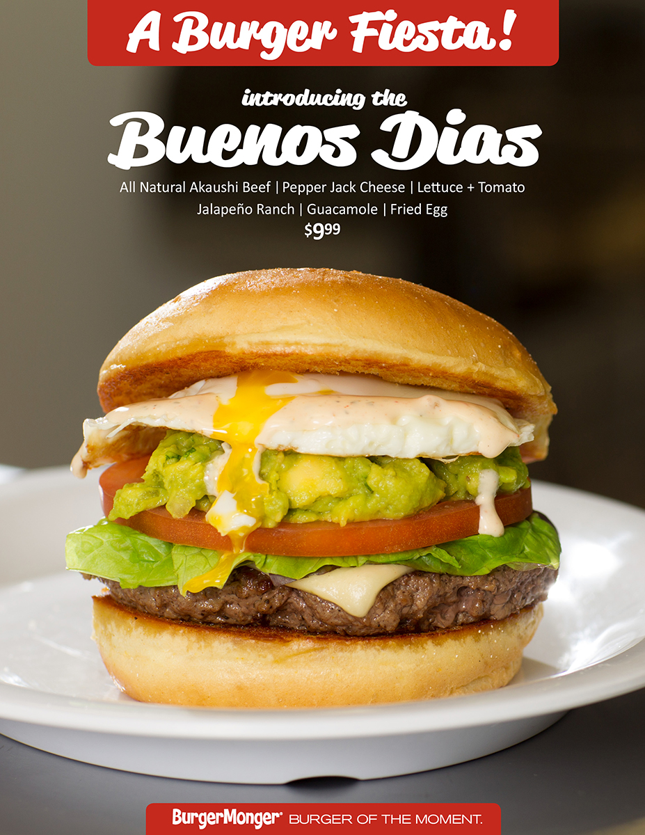 BurgerMonger Buenos Dias Burger LTO