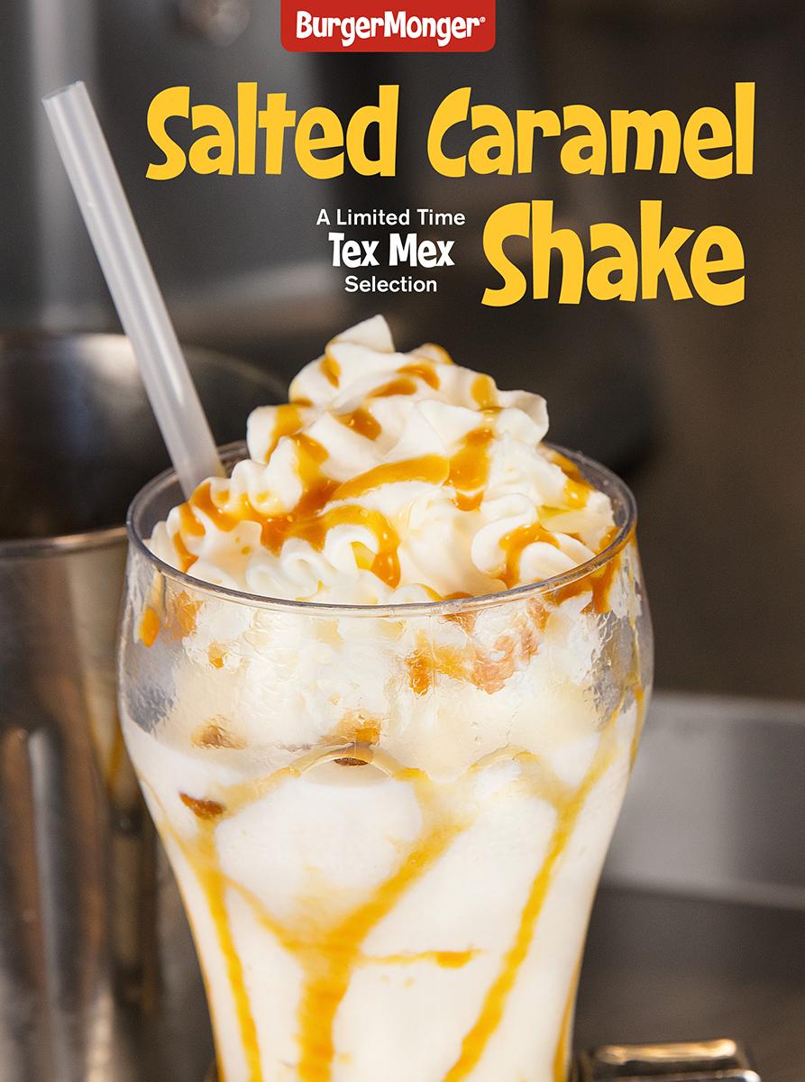 BurgerMonger Salted Caramel Shake