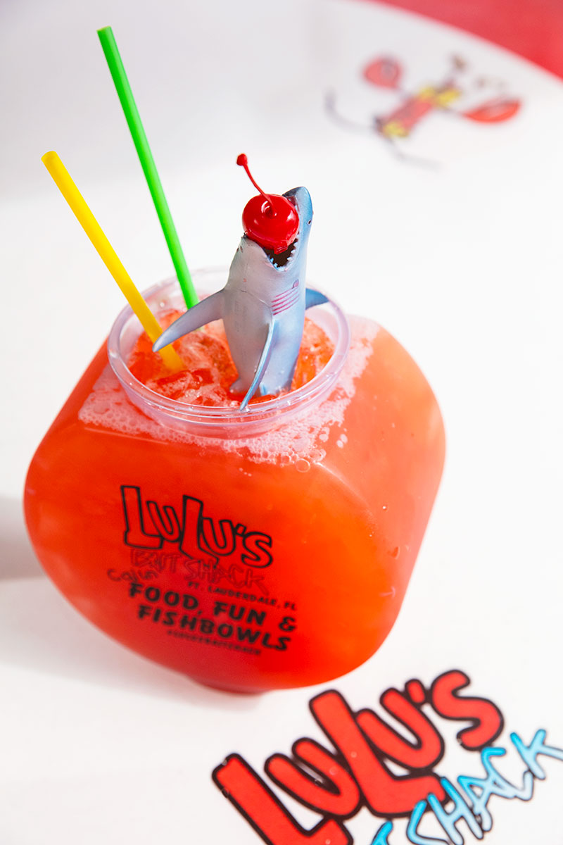 LuLu's Bait Shack Fishbowl Cocktail