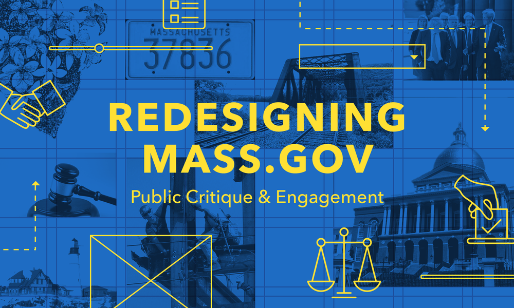 Redesigning Mass.gov: Design Critique & Engagement - In March of 2017, I was on a panel for the Mass.gov redesign, hosted by AIGA at District Hall. The presentation was given by our main stakeholder at the Commonwealth Harlan Weber, and touched upon our process, and asked for feedback on our logo directions. We also had a Q&A session, where attendees asked myself and others on the panel about the redesign.