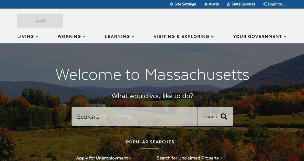 State of Massachusetts - I was the lead UX designer on the State of Massachusetts' website, and worked on the project for over a year. We worked as one big, integrated team; from planning and sketchwork all the way through development and release.