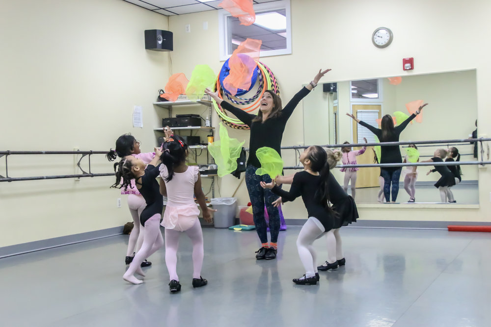 Creative Movement: 2-3 years  Children will explore dance through music ,stretching, imagination and creative play.   Pre-ballet level introduced with age appropriate music.  See class schedule...