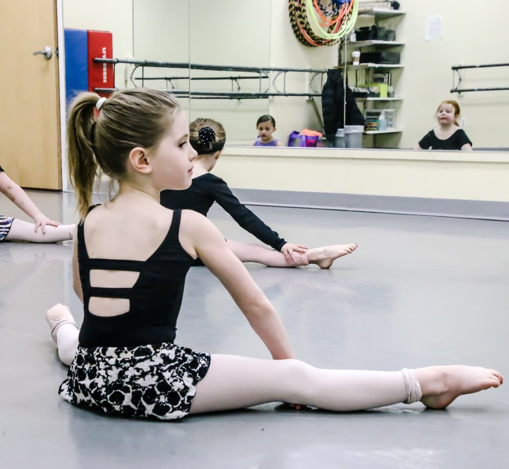 Kinderdance combos: 5-7 years  Fun and exciting combinations of all dance disciplines, including an introduction to Jazz. Technical development and musicality are the main focus. Students are brought to the next level.  See the class schedule...