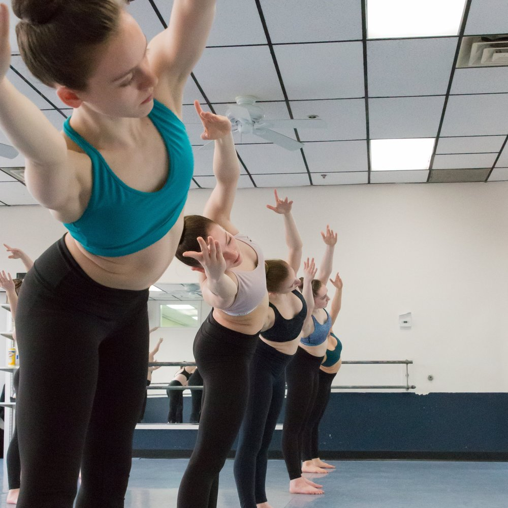 Teen Class: 11&up   Jazz, Tap, Ballet, Hip Hop & Musical Theater or dancers who want to continue their training experience or has limited dance experience.  Great class for the performing arts student!  See the class schedule...
