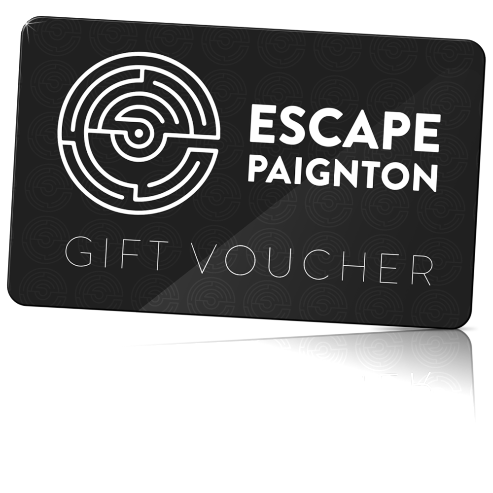 gift vouchers - Send your friends and family the greatest escape with our gift vouchers.Our gift cards allow you to book one game at any time for 2-6 people. A gift card will be sent to the purchaser, ready to be gifted to a friend or family member.