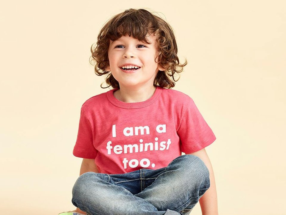 J.Crew's Feminist Kids Tee Sparks Mixed Reviews   - J.Crew recently launched a collaboration with prinkshop, a brand that creates political and activist-themed apparel. J.Crew fans, however, were upset that the company had assigned a political ideology and
