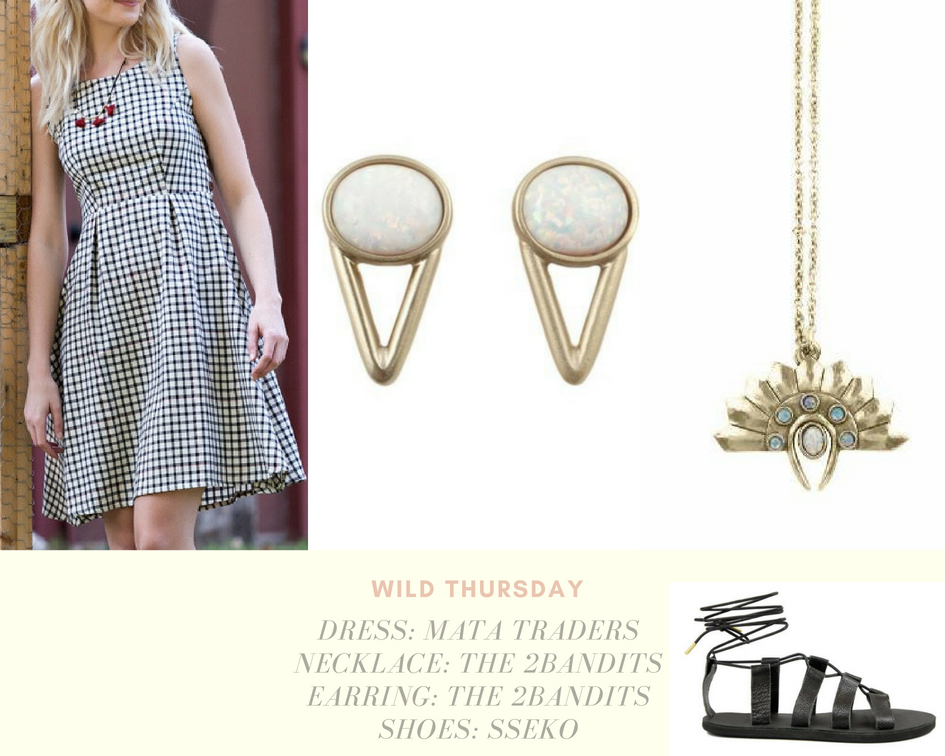 Wild Thursday - Dress |Shoes | Necklace |EarringMata Traders: This fair trade company empowers female artisans in Nepal and India by providing services such as health care, paid maternity leave, retirement pensions and even daycare.SSeko: Wear Sseko and you can send a girl to collegeThe 2Bandits: The2Bandits is a modern Southwestern heritage brand founded in 2008 by designer Tamar Wider. The company constantly donates a percentage of the proceeds to causes close to the founders heart.