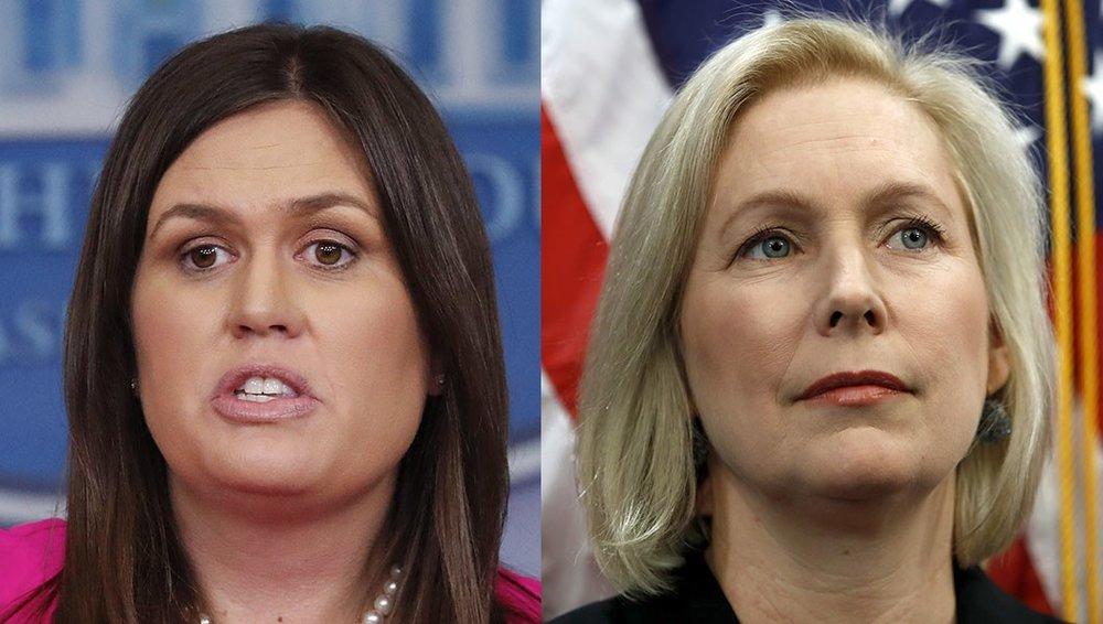 Sarah Sanders and Sen. Kirsten Gillibrand, D-N.jpeg