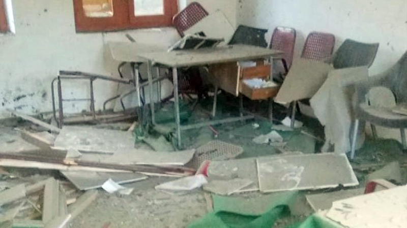 Extremists destroy 12 government schools, most for girls only.jpg