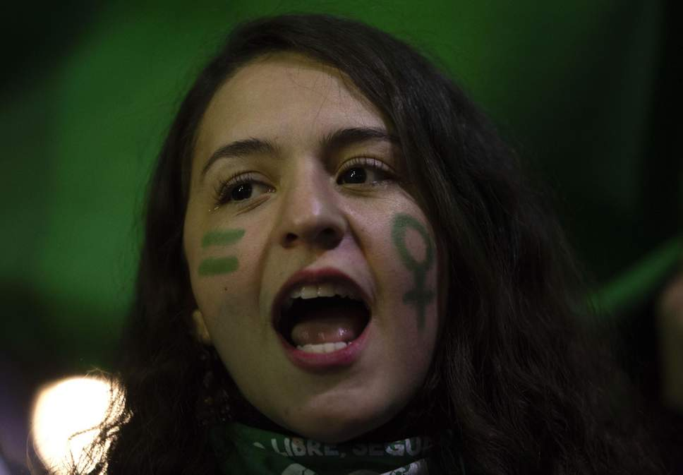 Three women stabbed by masked group at anti-abortion protest in Chile.jpg