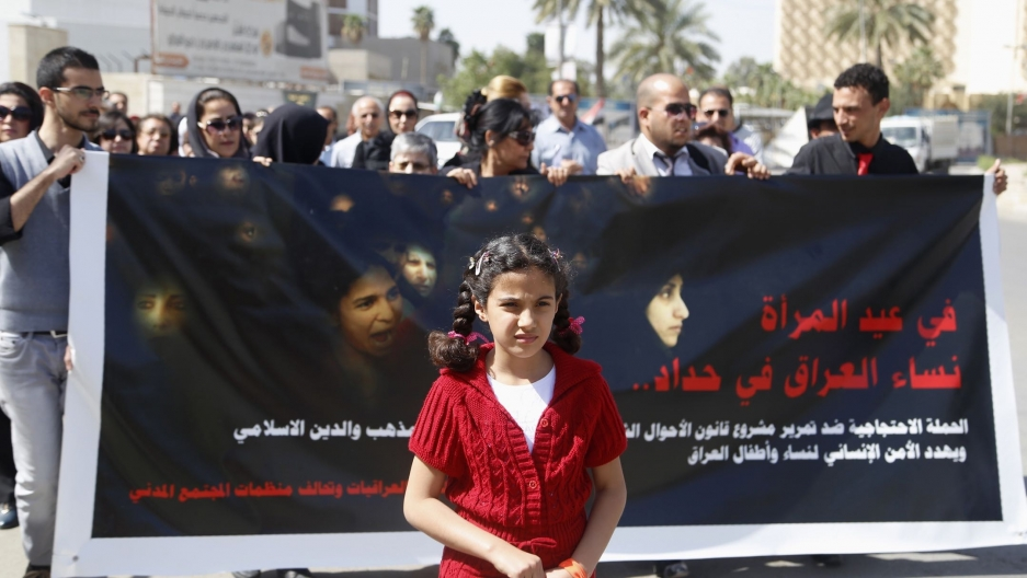 Early marriage figures for Iraq are startling. Child advocates worry it could rise even more..jpg