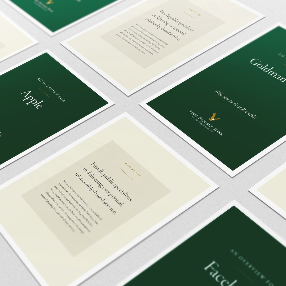 FIRST REPUBLIC BANK: PRINT COLLATERAL