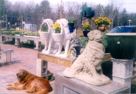 Statuary and Pottery