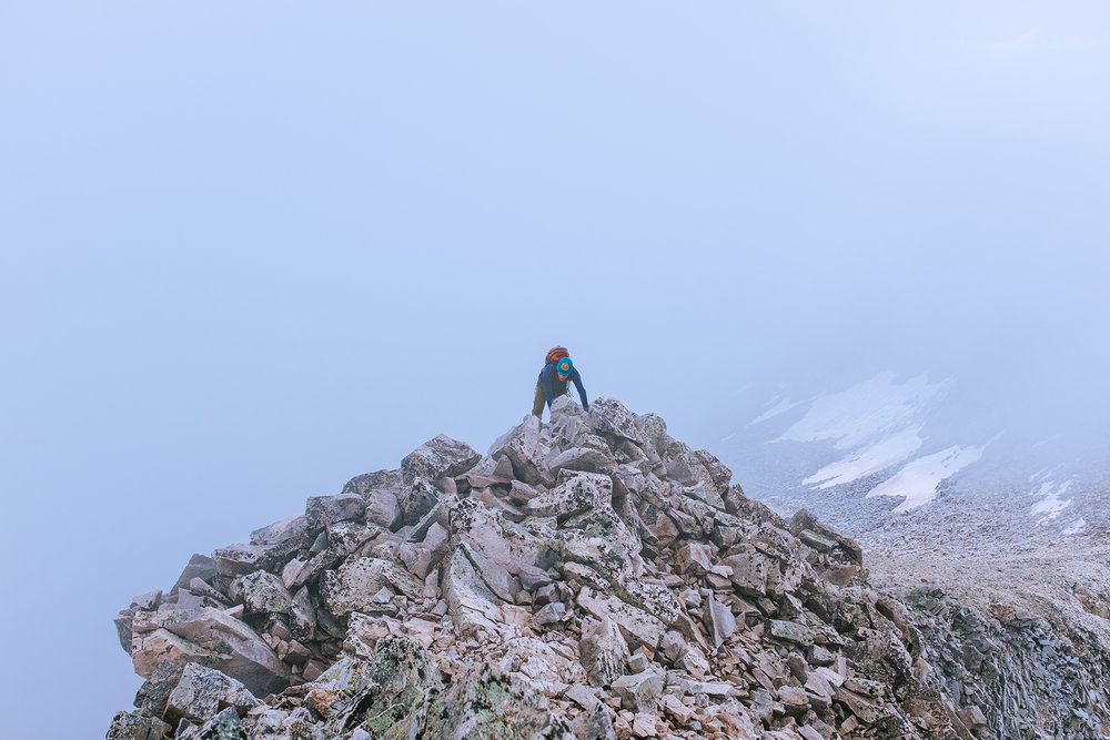 Climbing capitol peak (14,130') in Colorado
