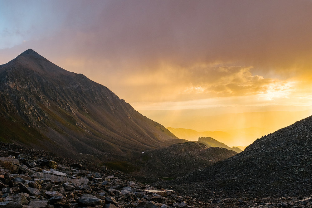 Sunrise over Mount Daly (13,300') in Colorado