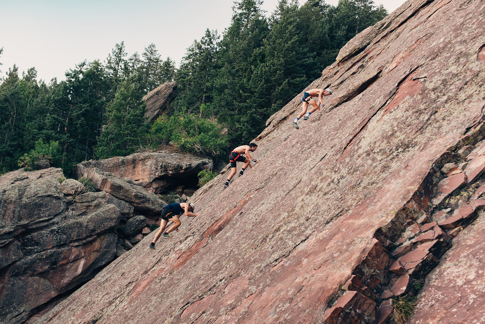 Scrambling in the flatirons of Boulder, Colorado