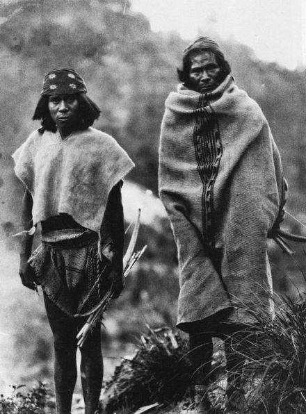 Two Tarahumara men photographed in Tuaripa, Chihuahua, in 1892 by  Carl Lumholtz