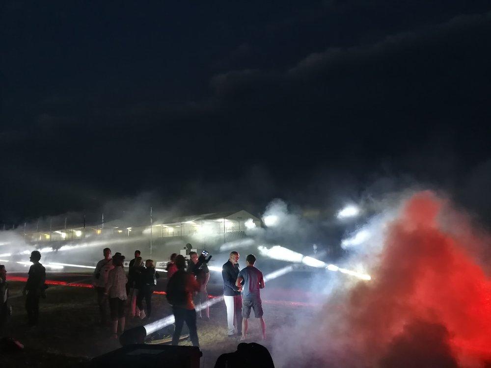 haze, lasers, beams = light show madness