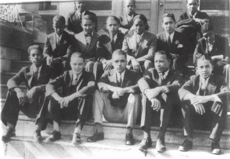 Alpha Phi Alpha Pledges at Lincoln University. Thurgood Marshall (middle row, second from the right)
