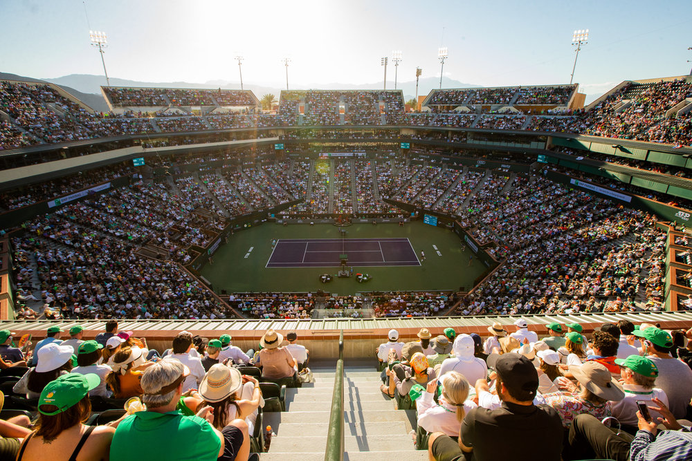 Center court at the BNP Paribas Open at Indian Wells