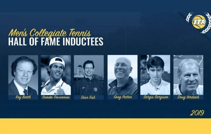 """This week, the   Intercollegiate Tennis Association   announced the 2019 Men's Collegiate Tennis Hall of Fame induction class. Timothy Russell, ITA Chief Executive Officer and 2015 Hall of Famer said """"On behalf of the ITA, I am delighted to announce that this distinguished class will be entering the ITA Men's Collegiate Hall of Fame.""""    The ITA will be hosting an event in Orlando, Florida next month that will include honoring these individuals on court before the start of the NCAA Men's Team Finals. """"The 2019 class is very accomplished. We are extremely excited to add all six members into the Hall of Fame,"""" added John Frierson, ITA Collegiate Tennis Men's Hall of Fame curator. """"We are inducting exceptional coaches and players and we are anticipating a weekend of memorable festivities in May!""""    To learn more about the class and their individual achievements click   here   .  Congratulations to all of the inductees in this year's class!"""