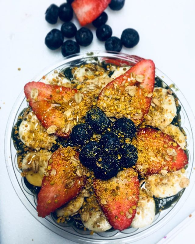 Our Acai bowls are to die for🔥🔥 - come enjoy one with us! 🍇🍓🍌 #acai #foodie #mediterranean #deli #chapelhill #northcarolina