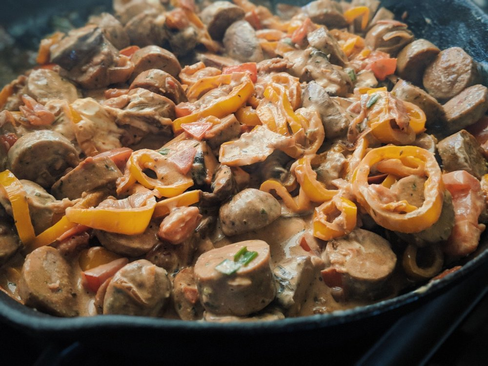 chicken sausage goat cheese pasta.jpg