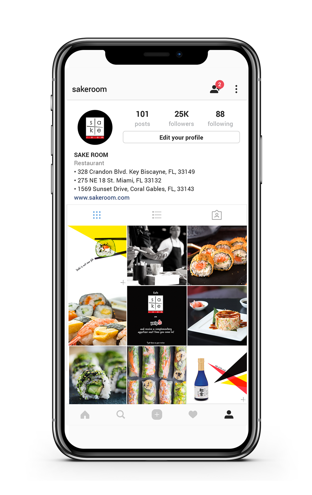 sushi restaurant - Social Media Branding, Content Creation + Curation, Restaurant Review and Traffic Strategy