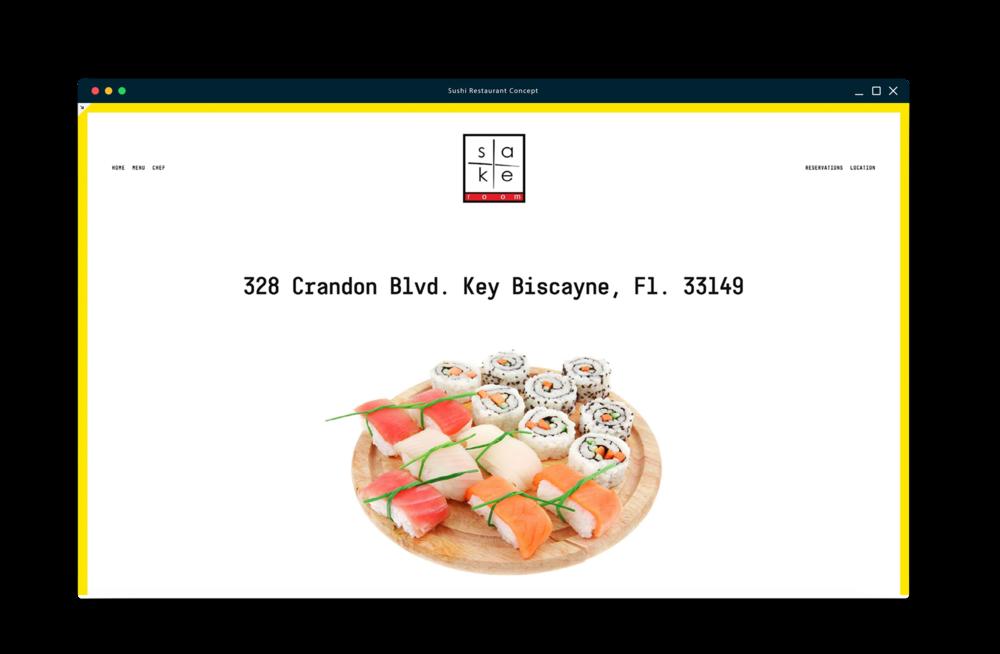 Sushi Restaurant Web Concept