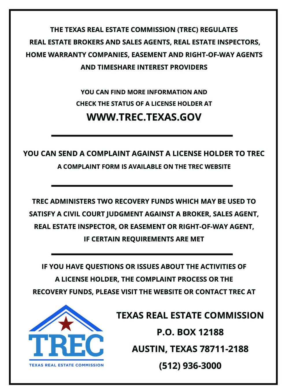Consumer Protection Notice (Click to enlarge)