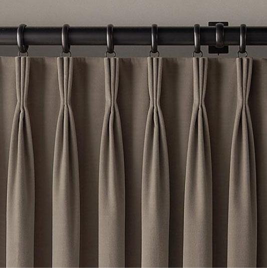 Four Pleat Styles For Window Panel Treatments Chrysaliz Design