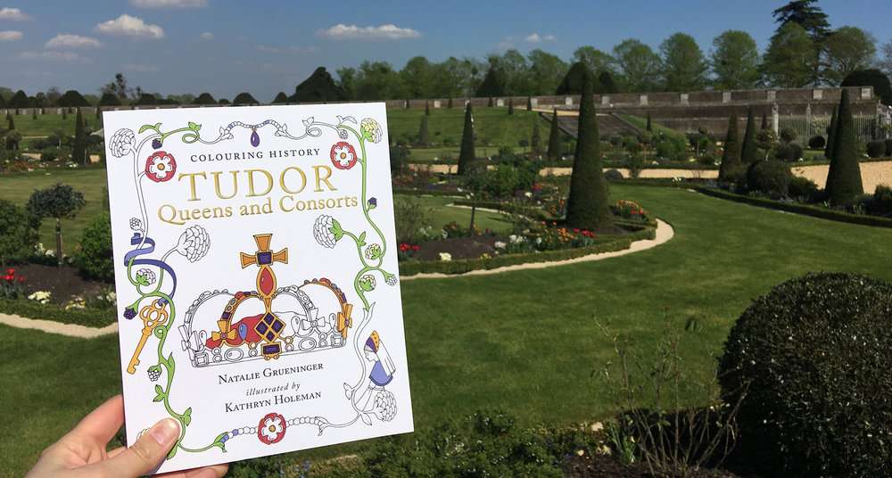 'Tudor Queens and Consorts' showing off in front of the spring blooms at the amazing Hampton Court Palace gardens.