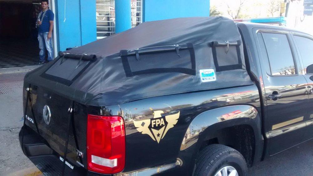 Lonas para camionetas con estructura