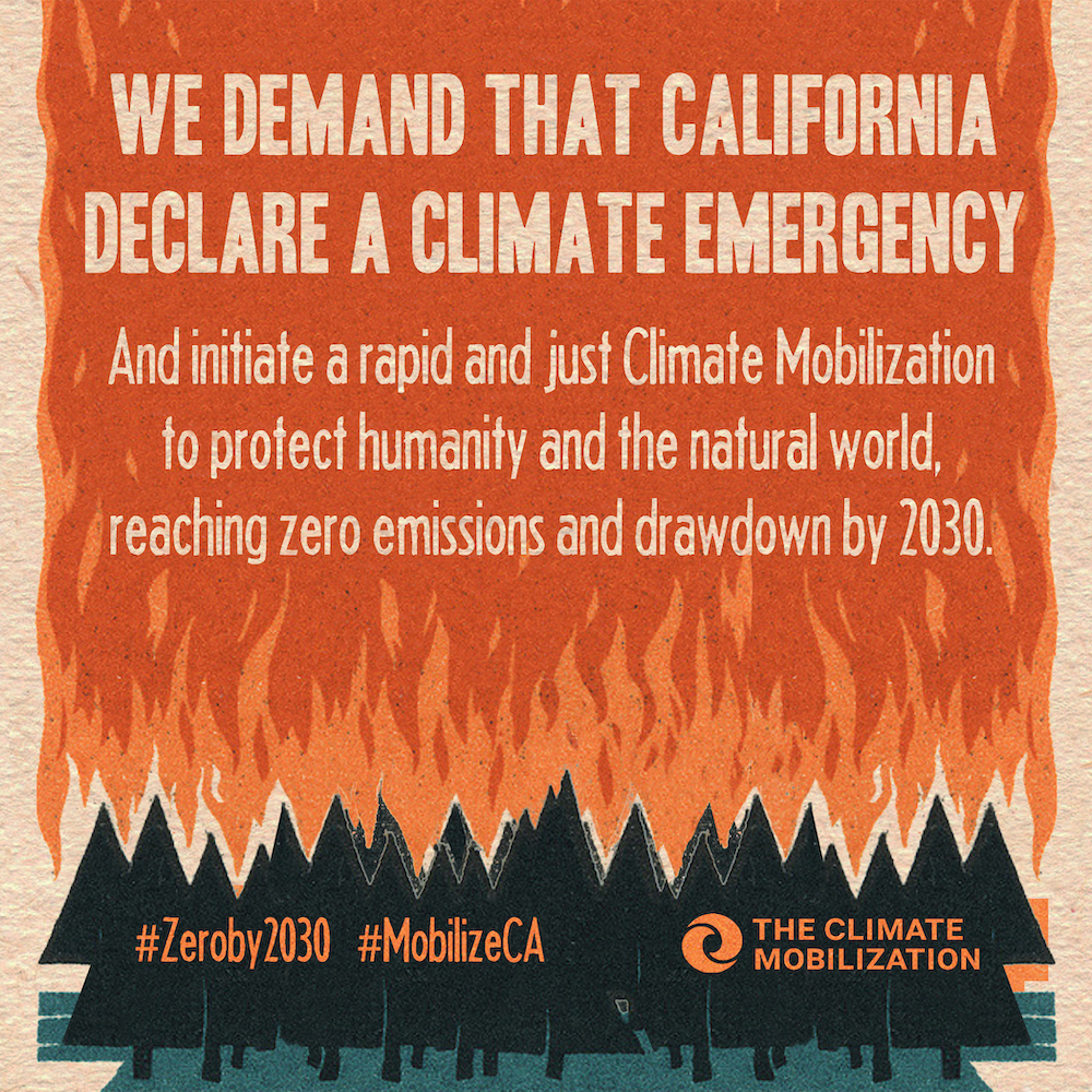 California! - Tell your elected leaders: